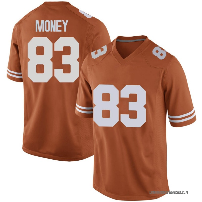 Game Men's Kai Money Texas Longhorns Orange Mens Football College Jersey