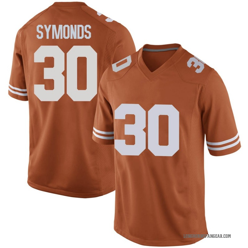 Game Men's Turner Symonds Texas Longhorns Orange Mens Football College Jersey