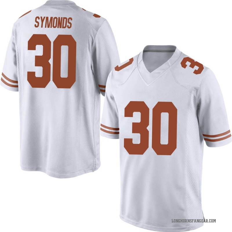 Game Men's Turner Symonds Texas Longhorns White Mens Football College Jersey