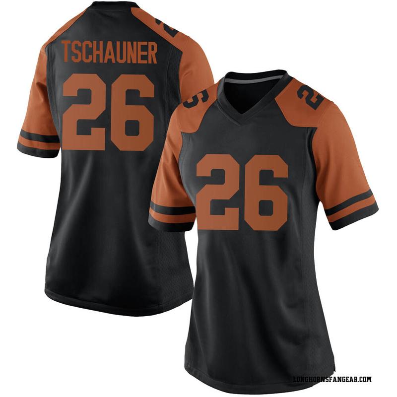 Game Women's Christian Tschauner Texas Longhorns Black Women Football College Jersey