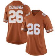 Game Women's Christian Tschauner Texas Longhorns Orange Women Football College Jersey