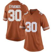 Game Women's Turner Symonds Texas Longhorns Orange Women Football College Jersey