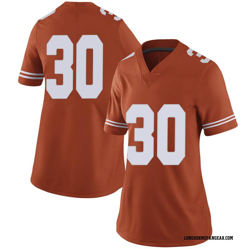 Limited Women's Turner Symonds Texas Longhorns Orange Women Football College Jersey
