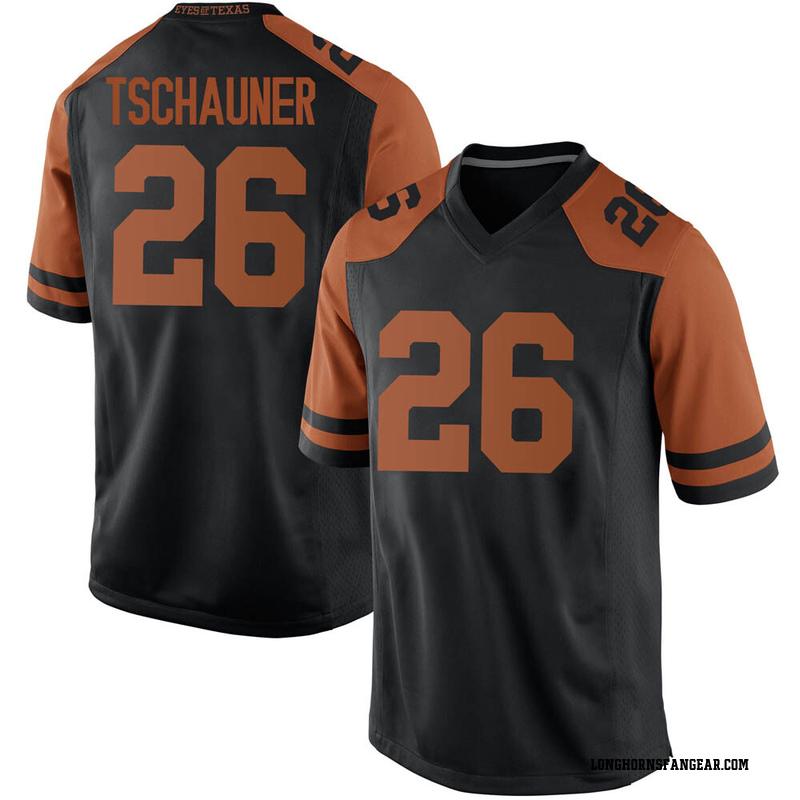Replica Men's Christian Tschauner Texas Longhorns Black Mens Football College Jersey