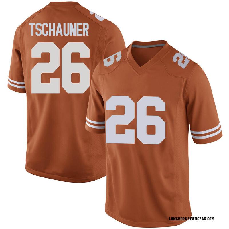 Replica Men's Christian Tschauner Texas Longhorns Orange Mens Football College Jersey