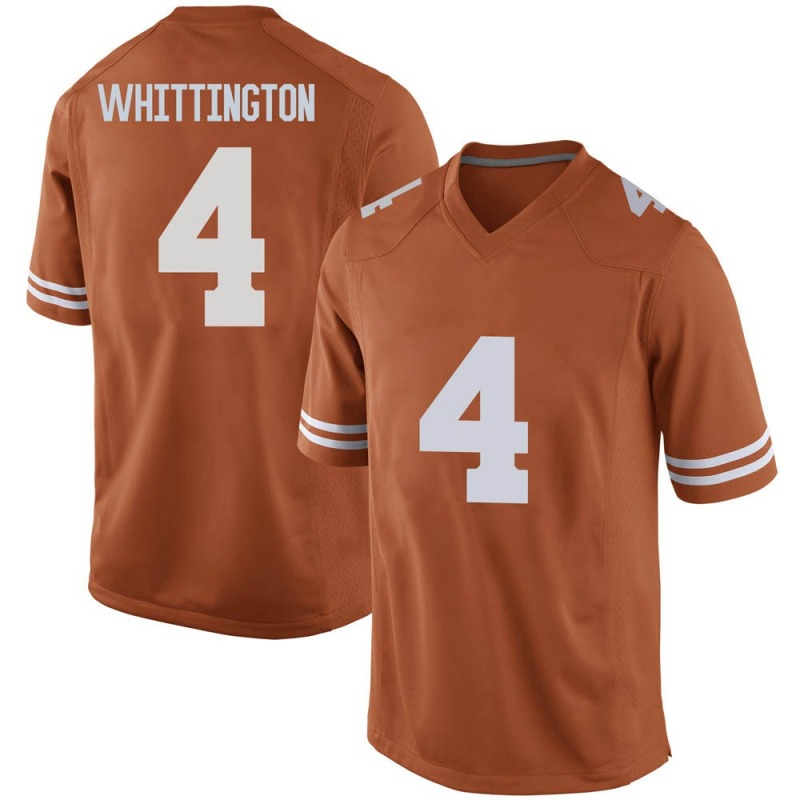 Replica Men's Jordan Whittington Texas Longhorns Orange Mens Football College Jersey