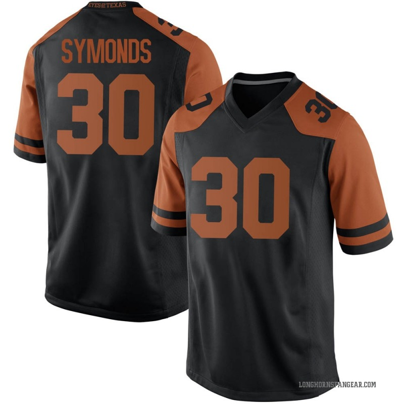 Replica Men's Turner Symonds Texas Longhorns Black Mens Football College Jersey