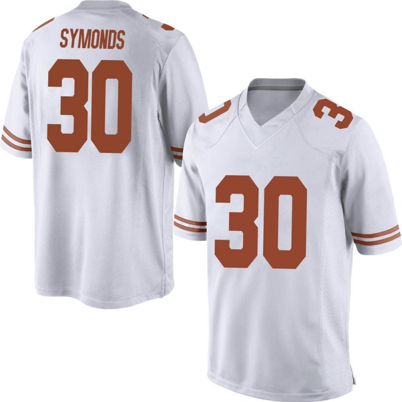 Replica Men's Turner Symonds Texas Longhorns White Mens Football College Jersey