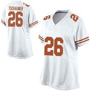 Replica Women's Christian Tschauner Texas Longhorns White Football College Jersey