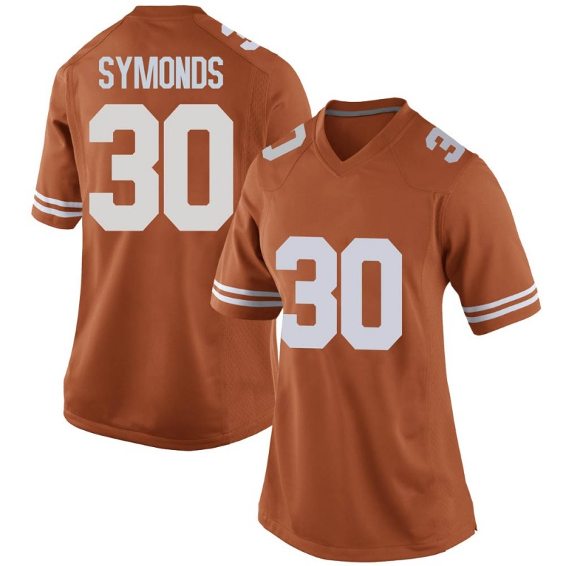 Replica Women's Turner Symonds Texas Longhorns Orange Women Football College Jersey
